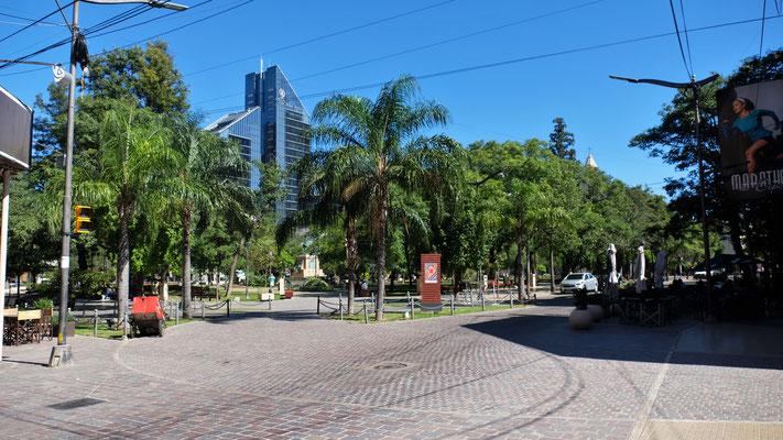 Der Plaza Libertad, im Hintergrund das Regierungsgebäude.