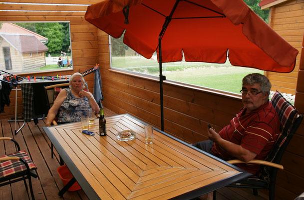 Danach ausruhen auf der Terrasse in Orsingen