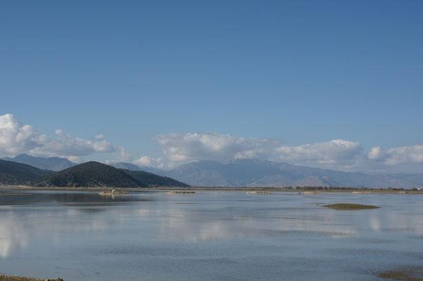 Ein fast leerer See