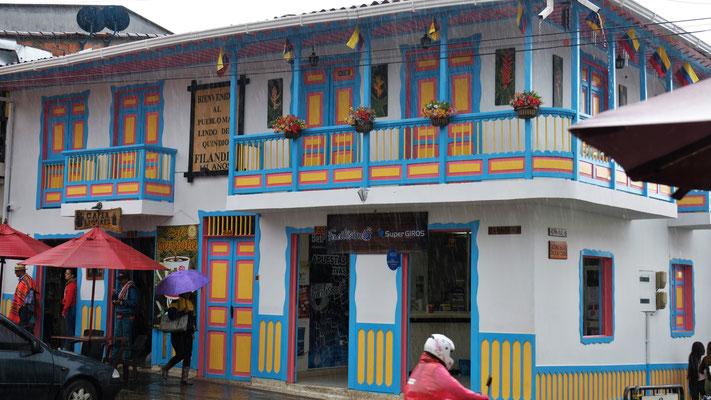 """""""Das schönste Dorf in der Region Quindio"""" so steht es auf der Tafel am Haus und das wird wohl stimmen."""