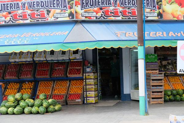 In Bahia Blanca gäbe es so schöne Früchte und Gemüse, aber eben....