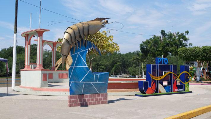 Das Wahrzeichen von Puerto Santa Rosa