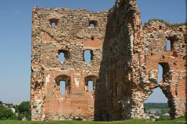 Das Schloss verfügte über mehrere Geschosse