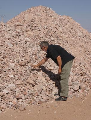 Alois hat einen Haufen Steine entdeckt....