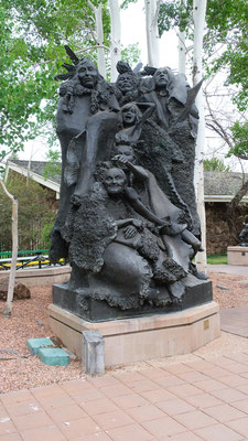 Wunderschöne Skulpturen im Buffalo Bill Museum