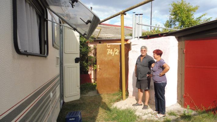 Unser Plätzchen bei Vera in Odessa