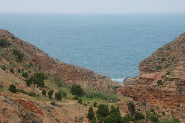 Immer wieder tolle Blicke aufs Mittelmeer in Marokko