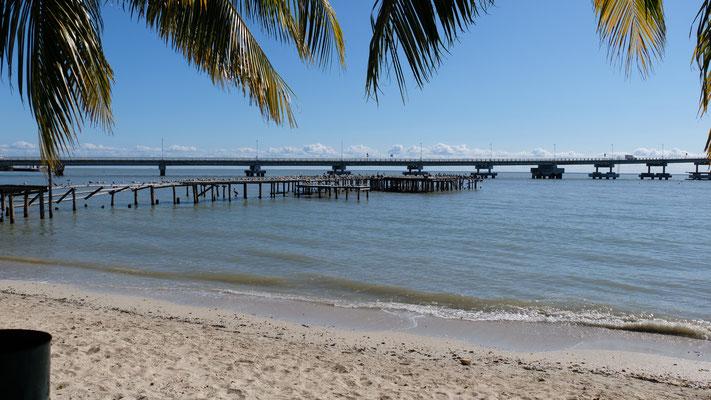 die Brücke über die Lagune nach Ciudad del Carmen