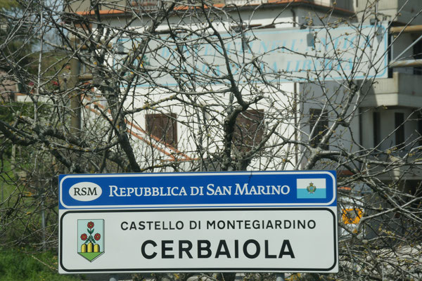 Wir sind in der Republik San Marino angekommen