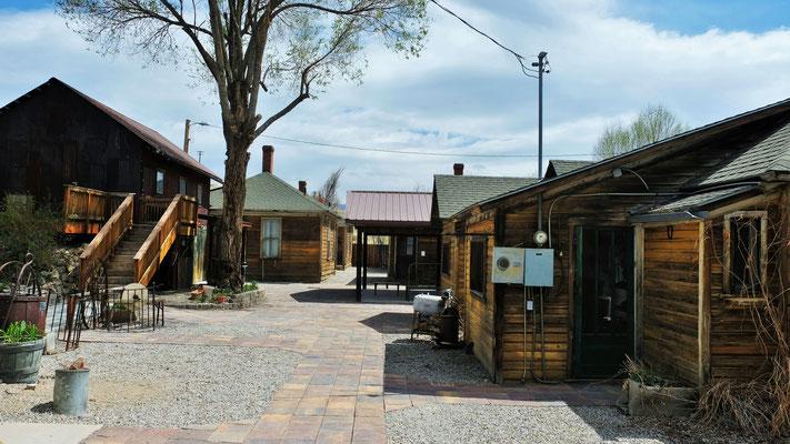 Die Häuser im kleinen Ecomuseum in Ely....