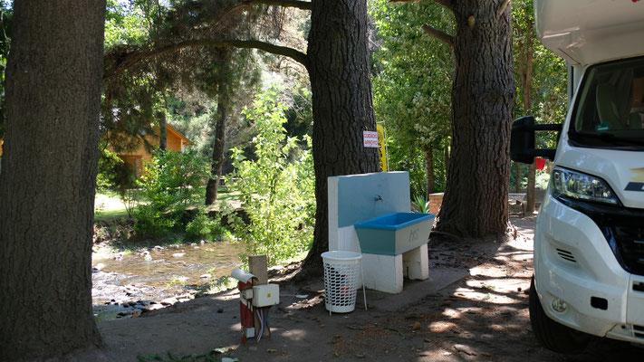 Der Campingplatz mit allen Schikanen, die wir nicht brauchen