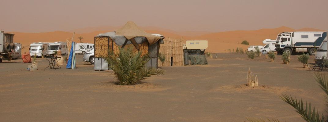 """Zwar sind viele Camper da, aber es gibt noch viel freien Platz auf dem """"Haven la Chance"""""""