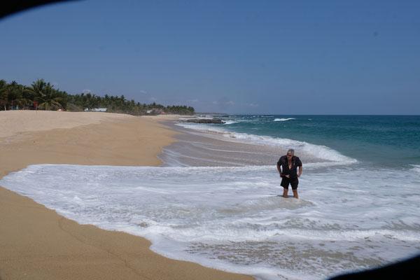 Ein unerwartetes Bad im Pazifik