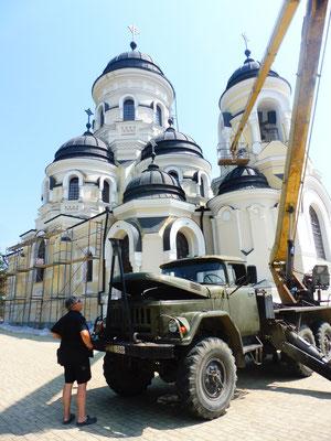 Kloster Capriana/ Moldawien wird renoviert