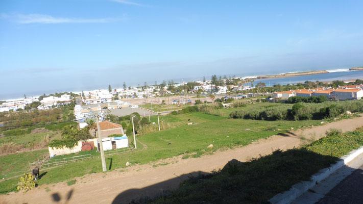 Blick zurück auf die Lagune von Oualidia