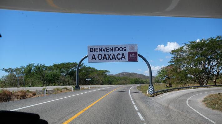 Beim Einfahren in Oaxaca