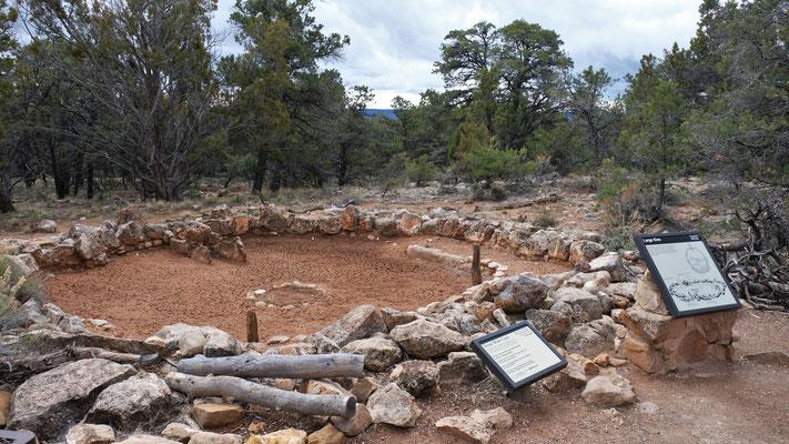 Ein Zeremonien-, und Feuerstellenplatz