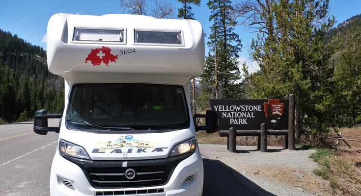 Ankunft am Yellowstone Nationalpark