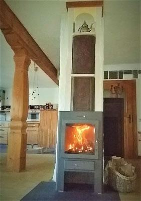 """tuned"" fireplace stove"