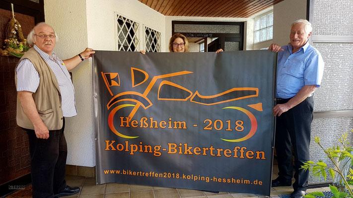 Unser Kolping-Bikerbanner ist angekommen