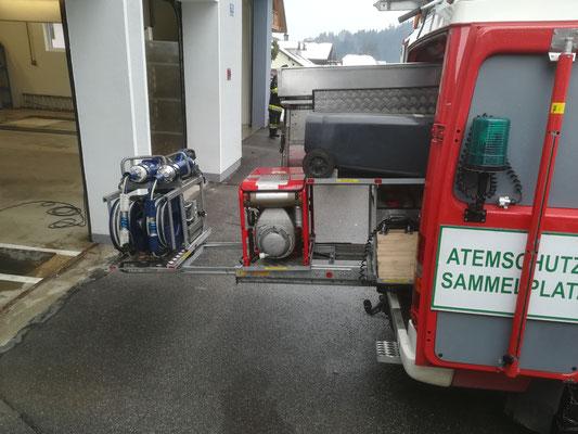 In unserem KRFA befindet sich das hydraulische Rettungsset inkl. jeglichem Zubehör
