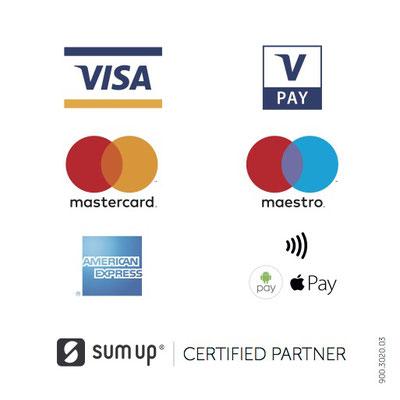 accepte paiement CB, VISA, mastercard, sans contact, Google Pay, Apple Pay