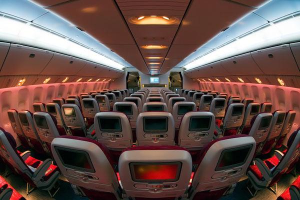 Qatar Airways Flugzeugkabine