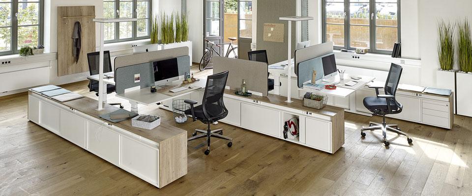 Table de bureau avec caisson integré - Febrü Active