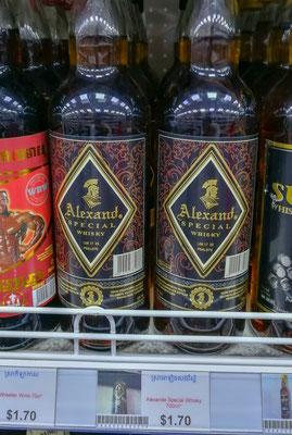 Alexand, eine Flasche Whisky 1,70 $