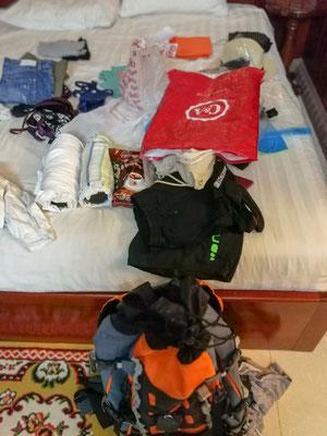 Sachen packen