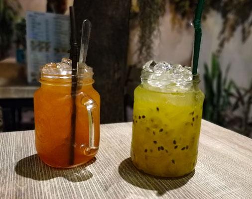 Passionsfrucht und Zitronen Eistee