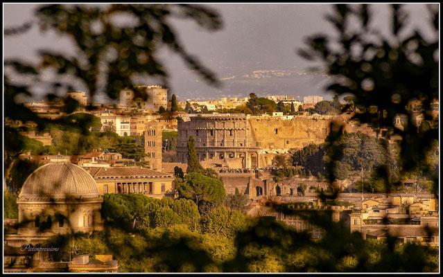 View down, Rome