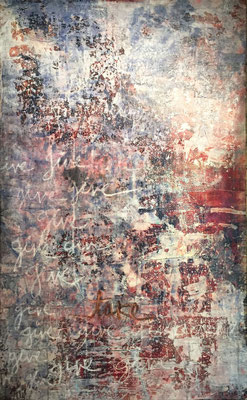 Give, Give, Give, Take | (36 x 60 in) | acrylic, ink and oil pastel on canvas | SOLD
