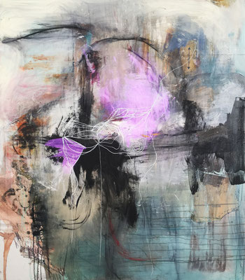 Aims & Objectives | (60 x 52 in) | paper, acrylic, ink and charcoal on canvas | SOLD