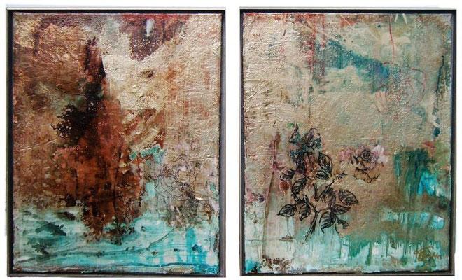 """Amor II"" (20""x16"") | mixed media on canvas | SOLD"