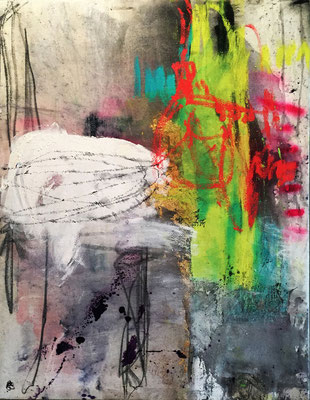 Cultivating New Energy | (34 x26 in) | solid marker, charcoal, ink, graphite and mixed media on canvas | SOLD
