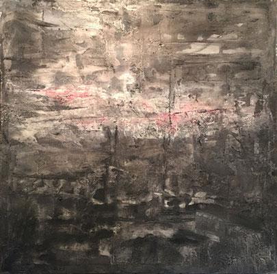 """The Light Still Burns"" (48"" x 48"") | mixed media on canvas | SOLD"