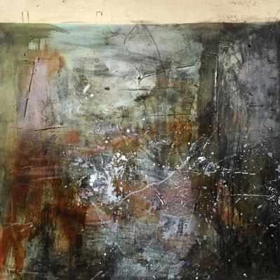 """""""Everybody Leaves, When They Get the Chance"""" (35""""x35"""")   mixed media on canvas   SOLD"""