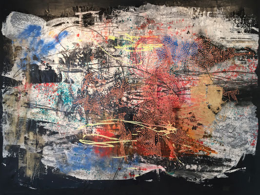 """You Become What You Think"" (66.25"" x 95.25"") 