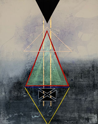"""Know Thyself III"" | acrylic, gouache and gold leaf on canvas | (20"" x 16"") | AVAILABLE"