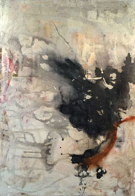 """""""Rust"""" (36""""x24"""")   mixed media on canvas   SOLD"""