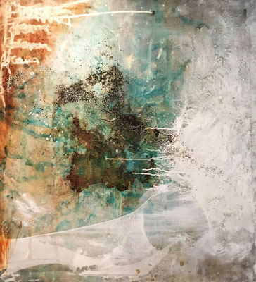 """""""Dreaming"""" (44.25""""x44.50"""")   mixed media on canvas   SOLD"""