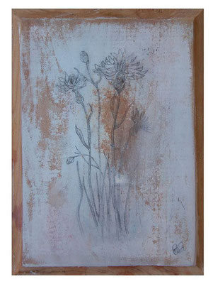 Flores IV | (7 x 5 in) | graphite and acrylic on wood panel | SOLD