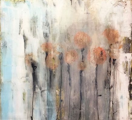 """""""From This, I Grew"""" (26""""x24"""")   mixed media on plexi   SOLD"""