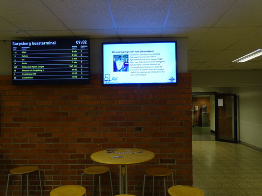 Erasmus news on screen in Norway 2018