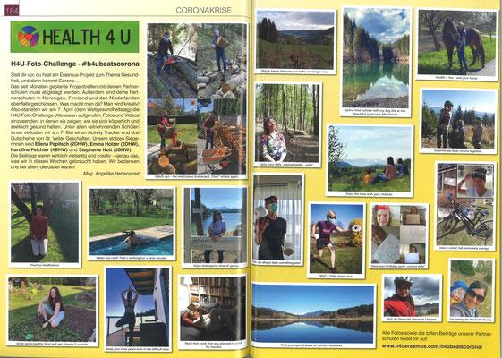 "School report about ""#h4ubeatscorona"" foto challenge 2020 (german)"