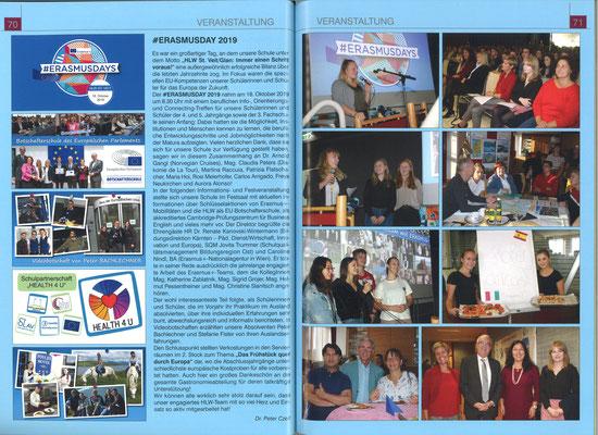School report about Erasmus Days in St. Veit (german)