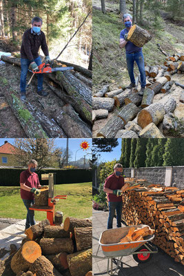 "Watch out – the meticulous lumberjack ""Pessi"" strikes again."