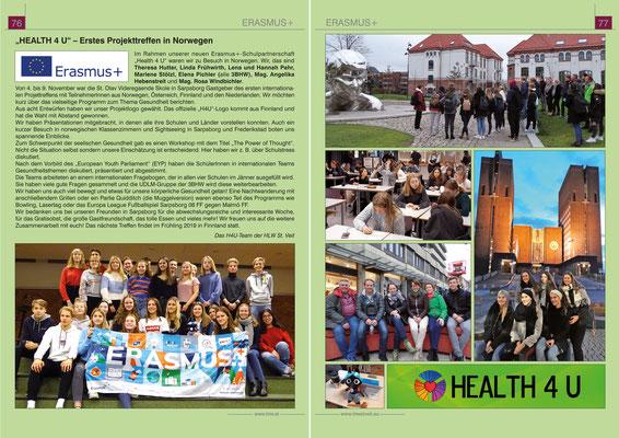 School report about LTTA Norway 2018 (german)