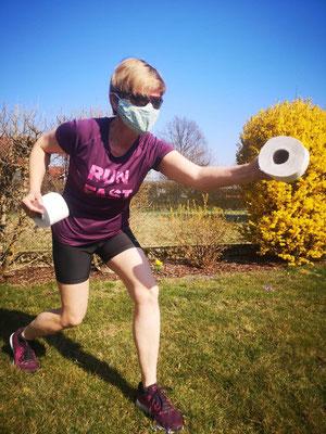 Start a toilet paper race